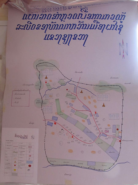 Photo of UXO hand drawn map.