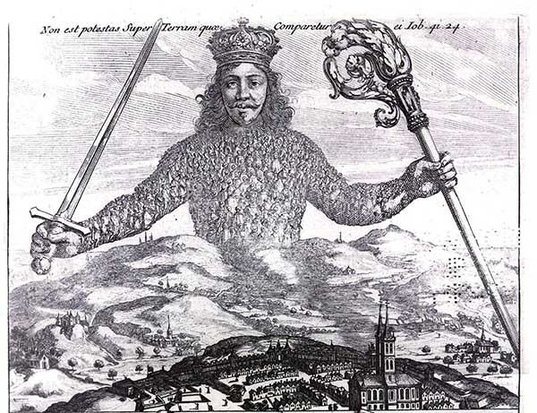 Leviathan by Thomas Hobbes Licensed under Public Domain via Wikimedia Commons.