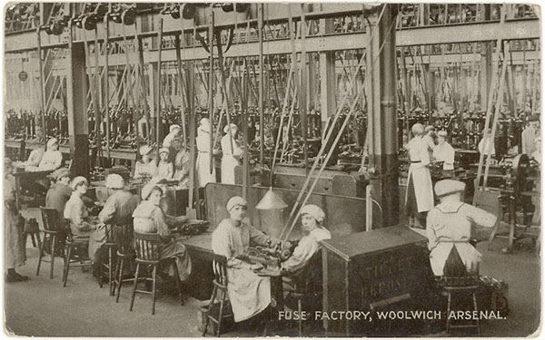 Workers in a Fuse Factory