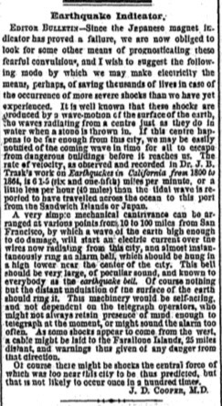 A scan of an historical newspaper article.