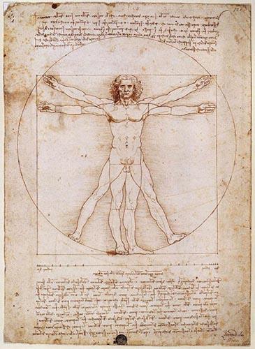 Scan of DaVinci's Vitruvian Man.