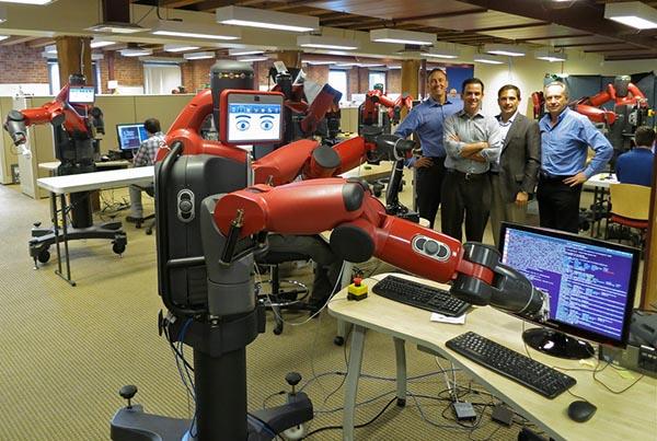 Baxter, an Industrial Robot, Using a Computer