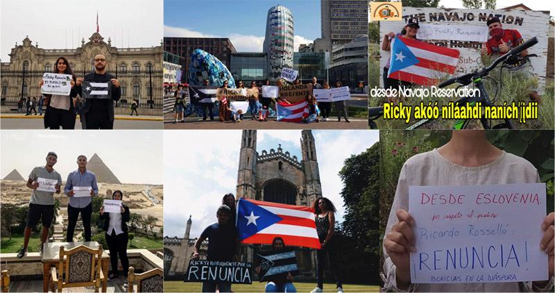 Muestras de apoyo de puertorriqueños en diáspora.