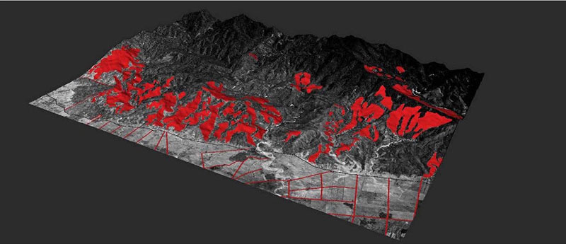 Forest analysis of scorched earth in Guatemala.