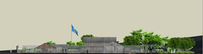 Reconstruction of military outpost at Sepur Zarco. Courtesy of Elis Mendoza