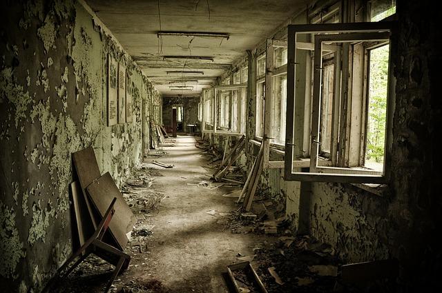 Corridor of Chernobyl aftermath