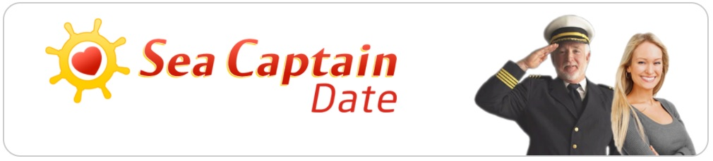 """Logo for the """"Sea Captain Date"""" app"""